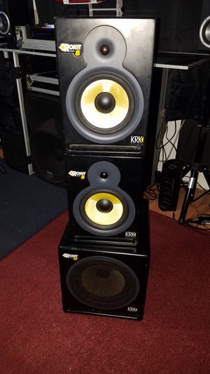 KRK SYSTEMS Rokit 8 studio monitors and Subwoofer 10s for Sale in Lakeside, CA