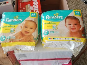 pampers swaddlers size 2 and 3 for Sale in Morgan Hill,  CA