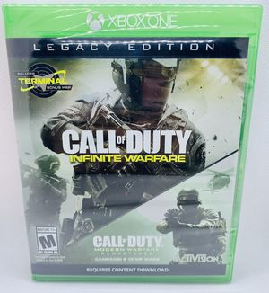 CALL OF DUTY Infinite Warfare & Modern Warfare Remastered XBOX ONE XB1 Legacy Edition Brand New Factory Sealed COD for Sale in Puyallup, WA
