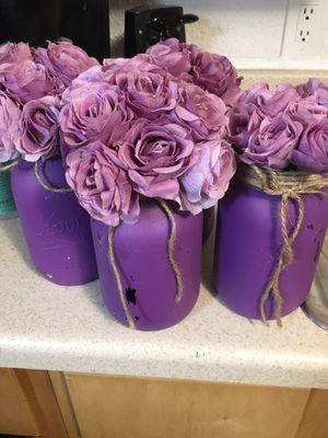 Purple mason jars for Sale in Dallas, TX