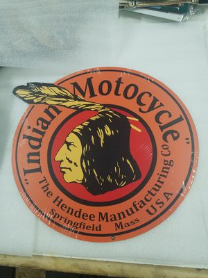 Indian motorcycle bike chief head steel metal sign for Sale in Vancouver, WA
