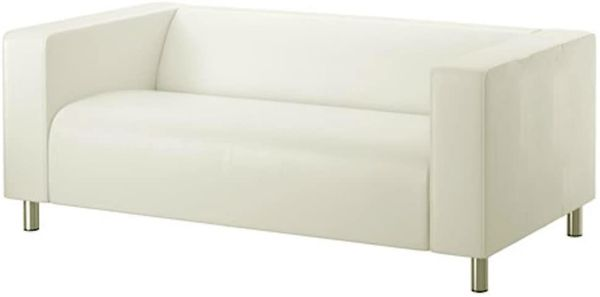 IKEA KLIPPAN LOVESEAT COUCH WITH NEW SLIP COVER