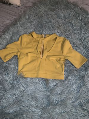 Yellow mustard top for Sale in Fort Belvoir, VA