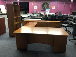 Office furniture sale matching desks chairs files for Sale in Fort Pierce, FL
