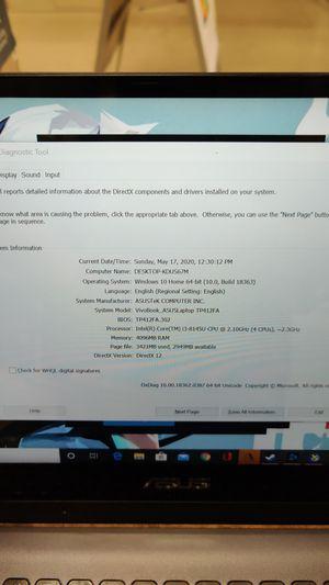 Asus vivo book tp412fa touch screen for Sale in Bozeman, MT