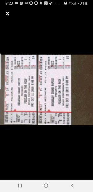 Fiddler on the Roof tickets!!! for Sale in Grand Rapids, MI