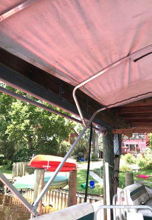 Pontoon boat Bimini top frame and canvas used for Sale in Jacksonville, FL