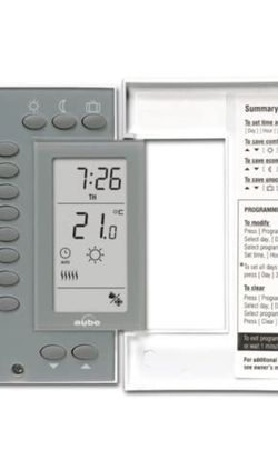Aube by Honeywell Home TH141HC-28 Heat and Cooling 7-Day Programmable Thermostat for Sale in Las Vegas,  NV
