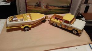 1964 Chevy Pickup and boat model set for Sale in Abilene, TX