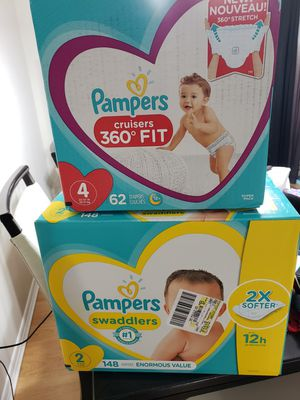 Diapers Pampers size 2, size 4 for Sale in Brandon, FL