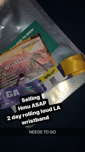 ROLLING LOUD LA 2 DAY GA PASS for Sale in Fresno, CA