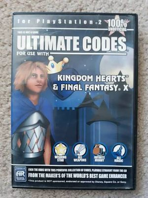 Ultimate Codes Final Fantasy X Kingdom Hearts Ps2 Sony Not A Game Free:: $10 for Sale in Las Vegas, NV