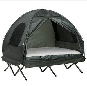Extra Large Compact Pop Up Portable Folding Outdoor Elevated All in One Camping Cot Tent Combo Set for Sale in Los Angeles, CA