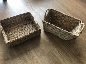 Two basket containers for Sale in Arlington, VA