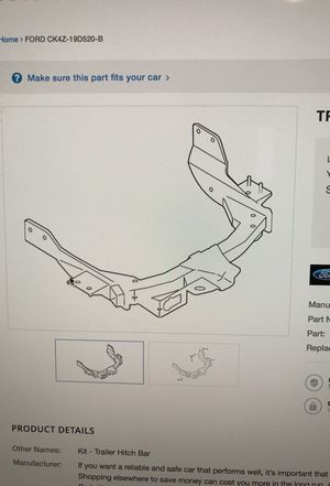 Ford transit class III oem trailer hitch new for Sale in Alexandria, VA