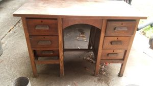 Old wooden desk for Sale in Houston, TX