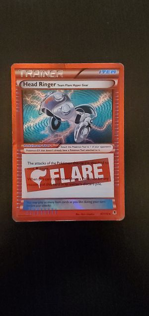 Rare Holo Head Ringer Team Flare Hyper Gear Pokémon Card for Sale in Sacramento, CA