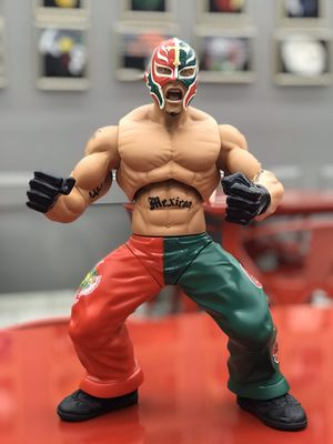 "Rey Misterio Tall 12"" RARE ACTION FIGURE LUCHADOR WWE CMLL NJW NewJapanWrestling. Condition is Used. Shipped with USPS First Class Package. Rey Mis for Sale in Plano, TX"