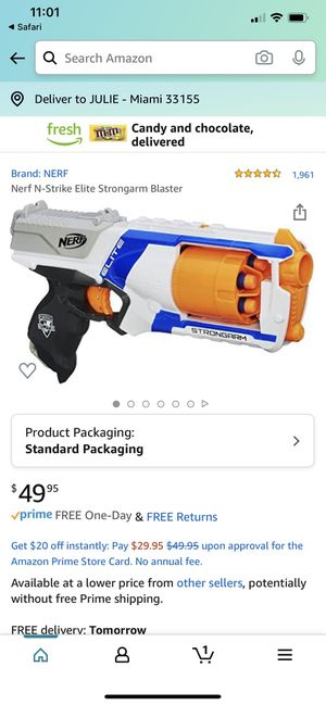 NERF Elite Strongarm Blaster Toy Gun for Sale in Miami, FL