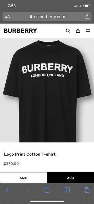 Burberry men's t shirt for Sale in Fremont, CA