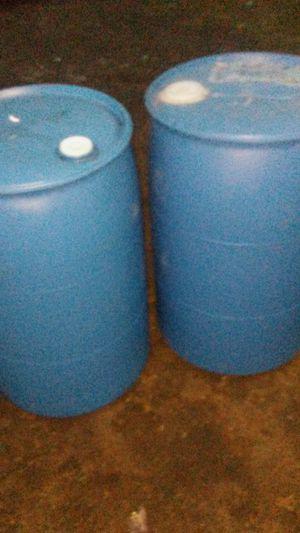 55 Gallon Plastic Barrels For Sale for Sale in Detroit, MI