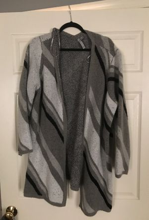 Gray and white cardigan for Sale in Westminster, MD