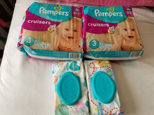 Pampers size 3 & Baby wipes for Sale in Mill Creek, WA