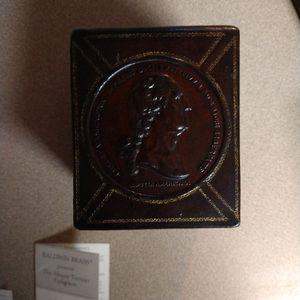 Baldwin Brass Leather Desk Set for Sale in Killeen, TX