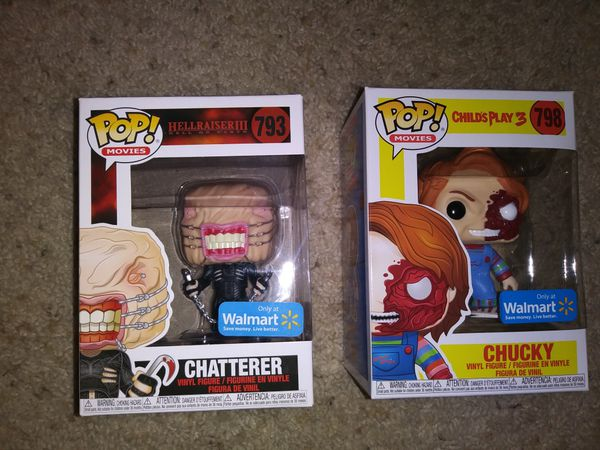 Chatterer and Chucky funko pop bundle, hellraiser 3 child's play 3