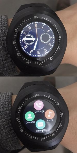 New bluetooth smartwatch touch screen suport SIM card or connect bluetooth compatible iOS or android phone smartphone for Sale in Whittier, CA
