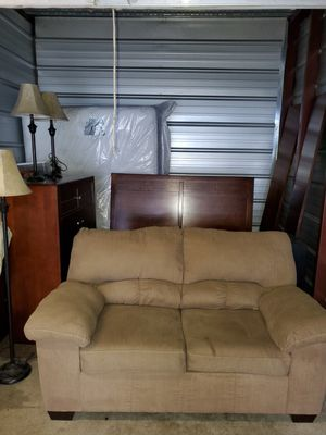 Matching Sets-Bedframe, Mattress, Vinyl and Dresser with Mirror, Small Couch, and Night stands for Sale in Vancouver, WA