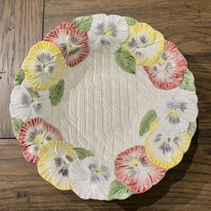 Fitz & Floyd Pansy Parade Serving Bowl for Sale in Deerfield Beach, FL