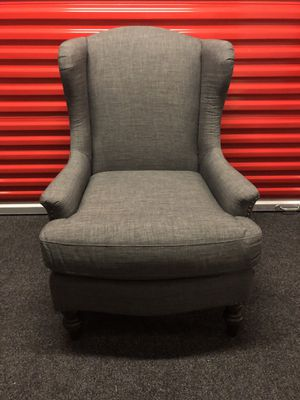 World Market Grey Chair, Excellent Conditon for Sale in Washington, DC