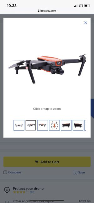 EVO 4K Drone with Controller(Orange) for Sale in Houston, TX