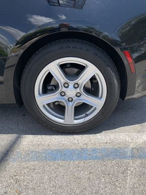 """2019 Chevy Camaro factory rims . Patten are 5x120 high offset. Tires has 9,000 miles on them. Rims are 18"""" and are in great condition for Sale in Davie, FL"""
