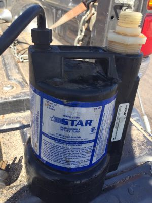 Utility pump 1/6 hp and used once. for Sale in Chandler, AZ
