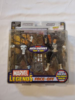 2006 Marvel Legends Face-Off Punisher vs Jigsaw Action Figures by Toy Biz for Sale in Gilbert, AZ