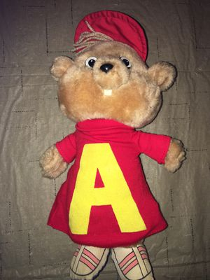 """1983 Vtg Clean Alvin and The Chipmunks figure Plush ALVIN 12"""" Stuffed Animal CBS Toy for Sale in Rochester Hills, MI"""