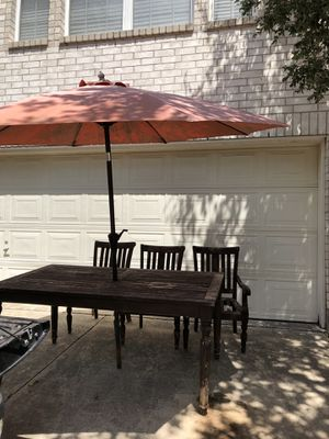 Crate and Barrel outdoor table and 3 chairs for Sale in Cedar Park, TX
