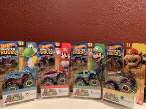Super Mario Hot Wheels Monster Trucks Complete Set for Sale in Whittier, CA
