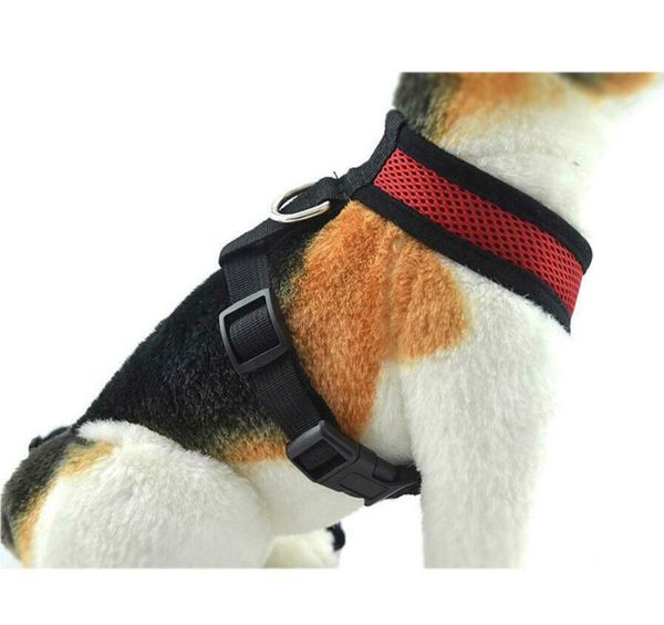 Dog Control Harness Soft Mesh Walk Collar Safety Strap Vest For Pet Cat Puppy Red XL(petharness-red-xl-USA)