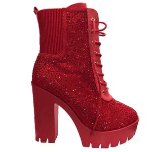 """Women's """"Red Rhinestone"""" Heels. Sizes 9, and 10 for Sale in Houston, TX"""