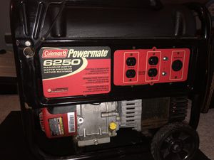 Generator Coleman 6250 w/cover; never used for Sale in Miromar Lakes, FL