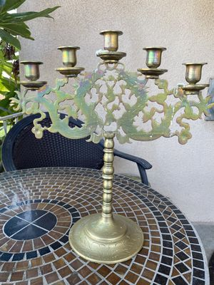 Antique Brass Chinese Candelabras for Sale in Downey, CA