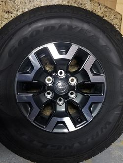 Tacoma 2021 TRD Wheels/Goodyear Kevlar Tires 16 Inch for Sale in Parker,  CO