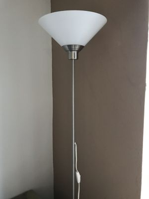 Floor lamp with real glass shade for Sale in Hollywood, CA