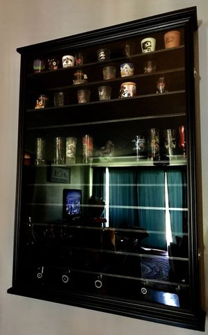 Decoration/shot glass display case for Sale in Wilder, KY