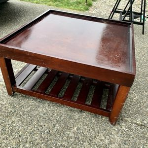 33x33 Solid Wood Custom Coffee Table for Sale in Tacoma, WA