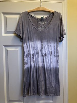 Cute light grey and white tunic crochet top for Sale in Pennington, NJ