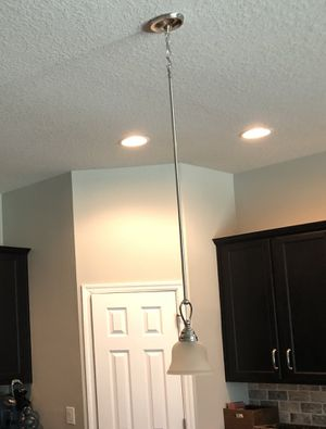 Hanging kitchen counter light fixtures- set of 2 for Sale in Tampa, FL
